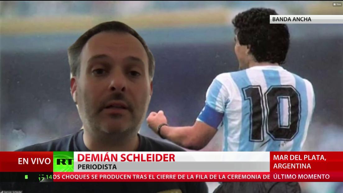 """Periodista: """"Lamentablemente, quizás la organización de la despedida a Maradona no fue la mejor"""""""