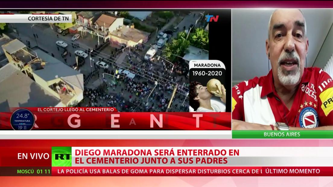 """Amigo de Maradona: """"La historia lo tendrá, sin ninguna duda, como uno de los grandes deportistas del mundo"""""""