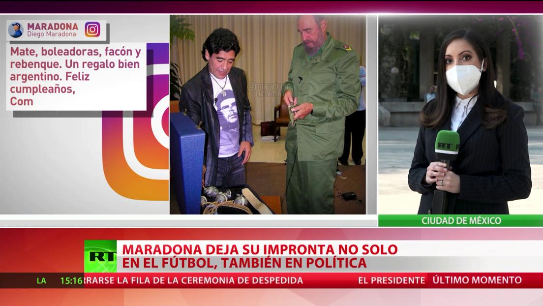 Maradona, además de en el fútbol, dejó su huella en el mundo de la política