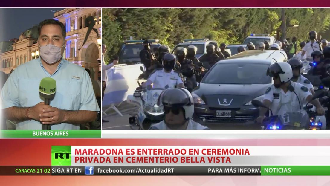 La despedida de Maradona acaba con 13 detenidos y 11 policías heridos