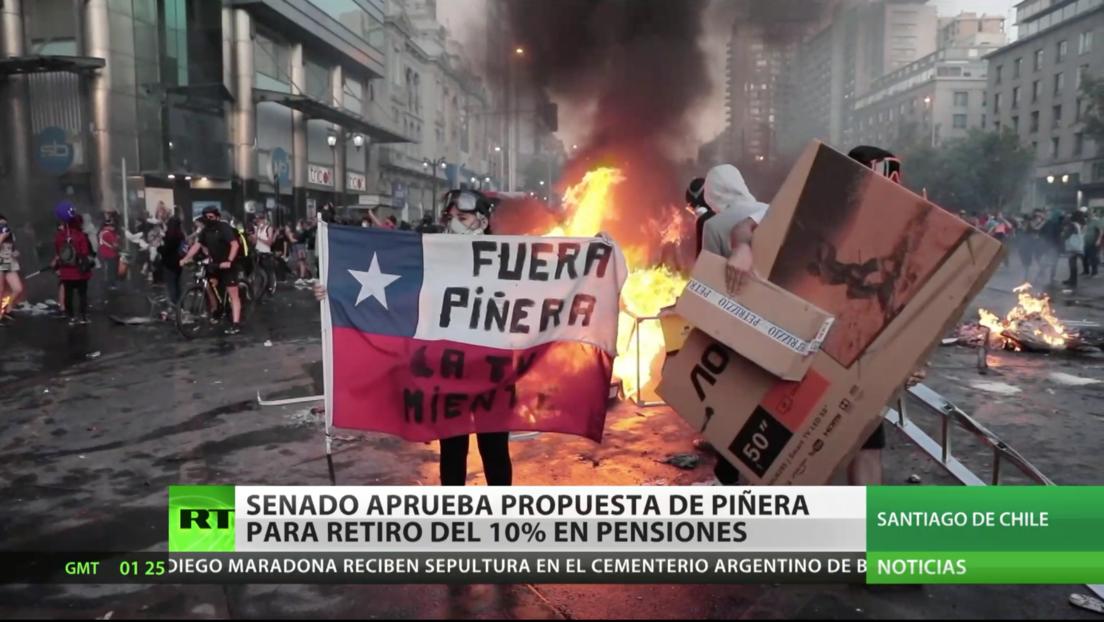 Senado chileno aprueba un segundo retiro anticipado de fondos previsionales para enfrentar la pandemia
