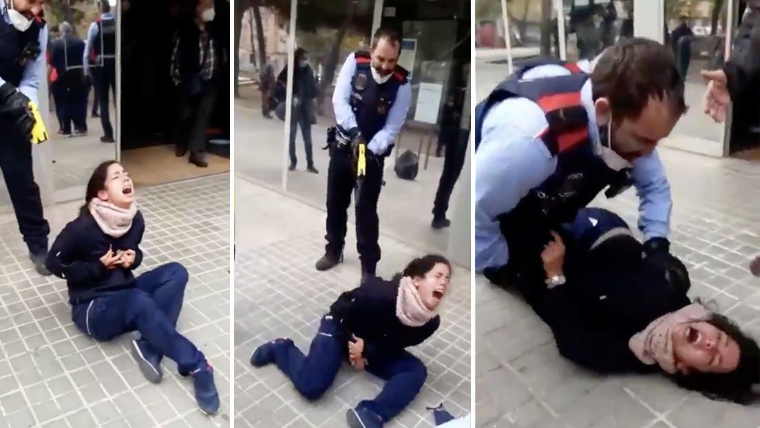 VIDEO: Polémica por la actuación de unos policías que usaron una pistola Taser contra una joven en las puertas de un centro médico en España