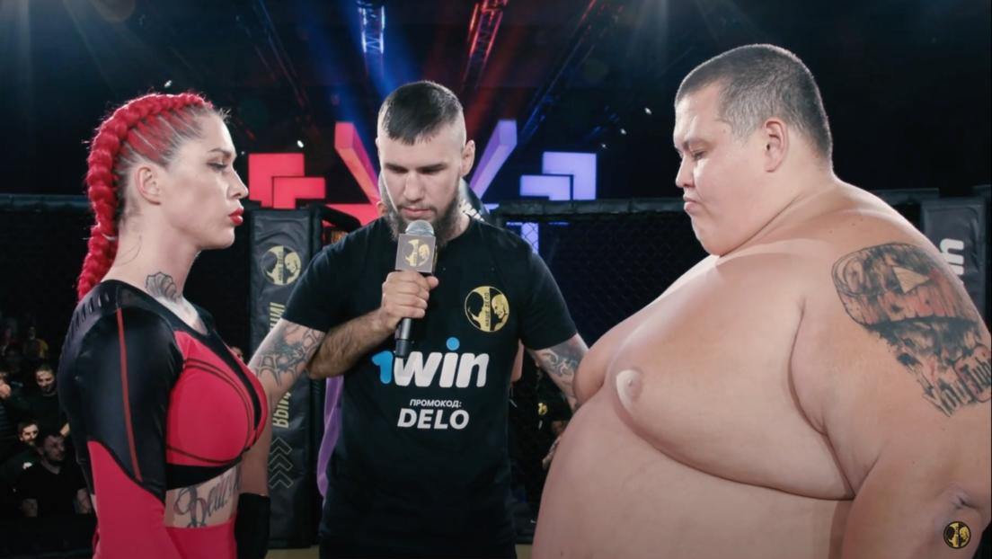 VIDEO: Bloguero de 240 kilos pierde un combate de MMA contra una luchadora que pesa cuatro veces menos