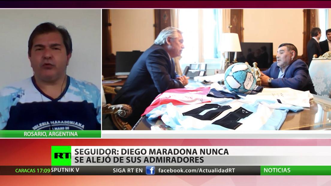 Fundador de la Iglesia Maradoniana: Maradona nunca se alejó de sus admiradores