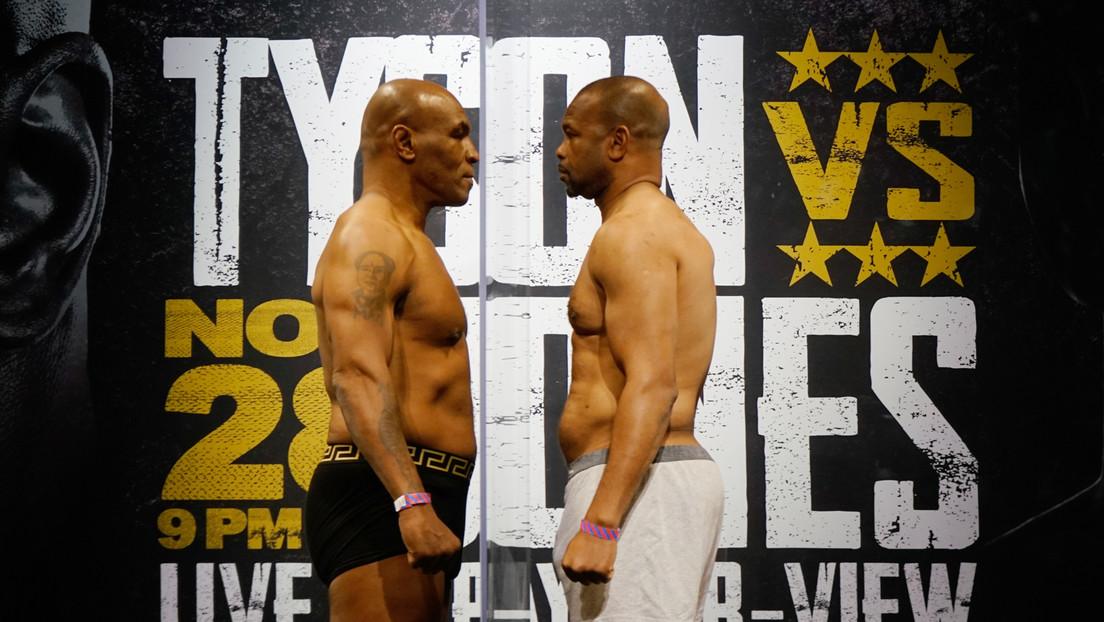 Revelan la suma que ganarán Mike Tyson y Roy Jones Jr. para la pelea de este sábado