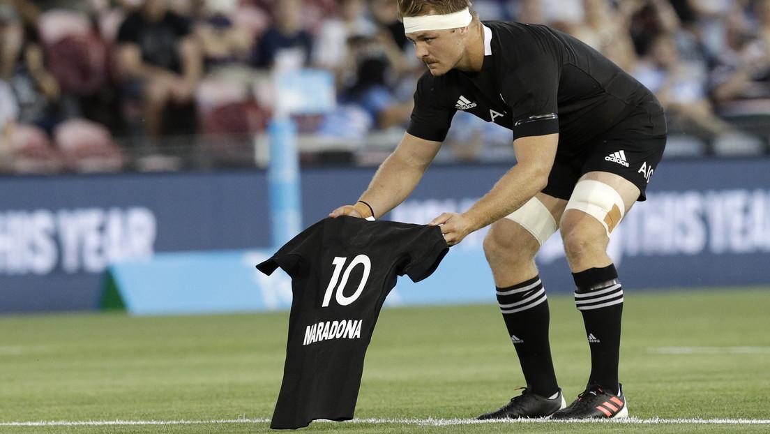 Los All Blacks rinden un conmovedor tributo a Maradona antes del partido con Argentina