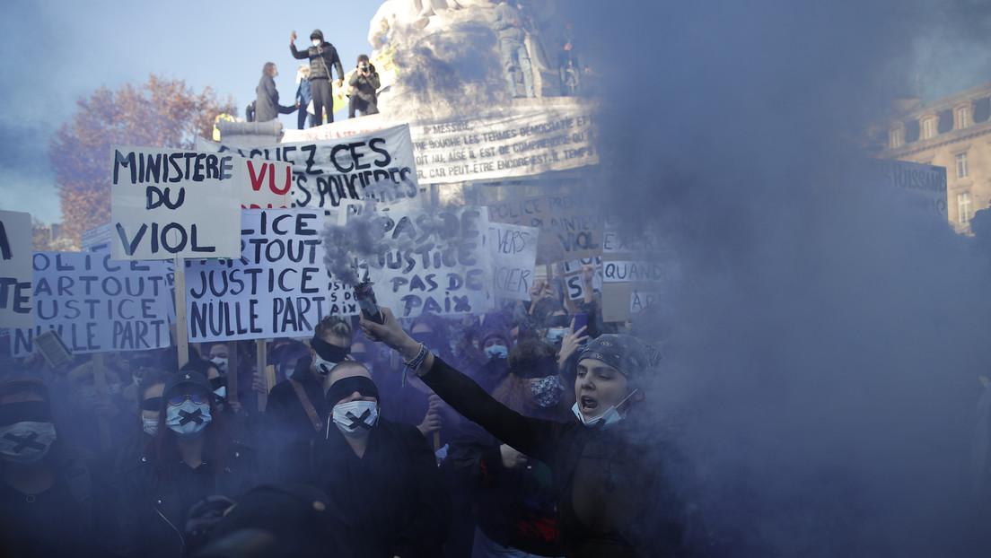 VIDEOS: Violentos disturbios en París durante una multitudinaria protesta en contra de la violencia de las fuerzas de seguridad