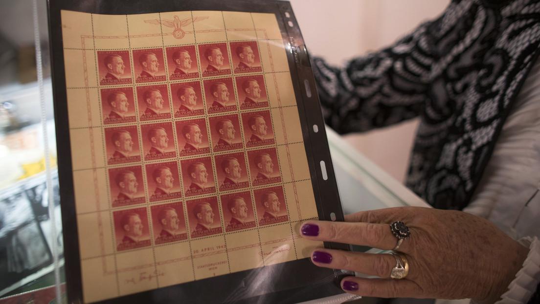 Retiran de quioscos sellos postales con la imagen de Hitler en una ciudad rusa ocupada por los nazis en la Segunda Guerra Mundial