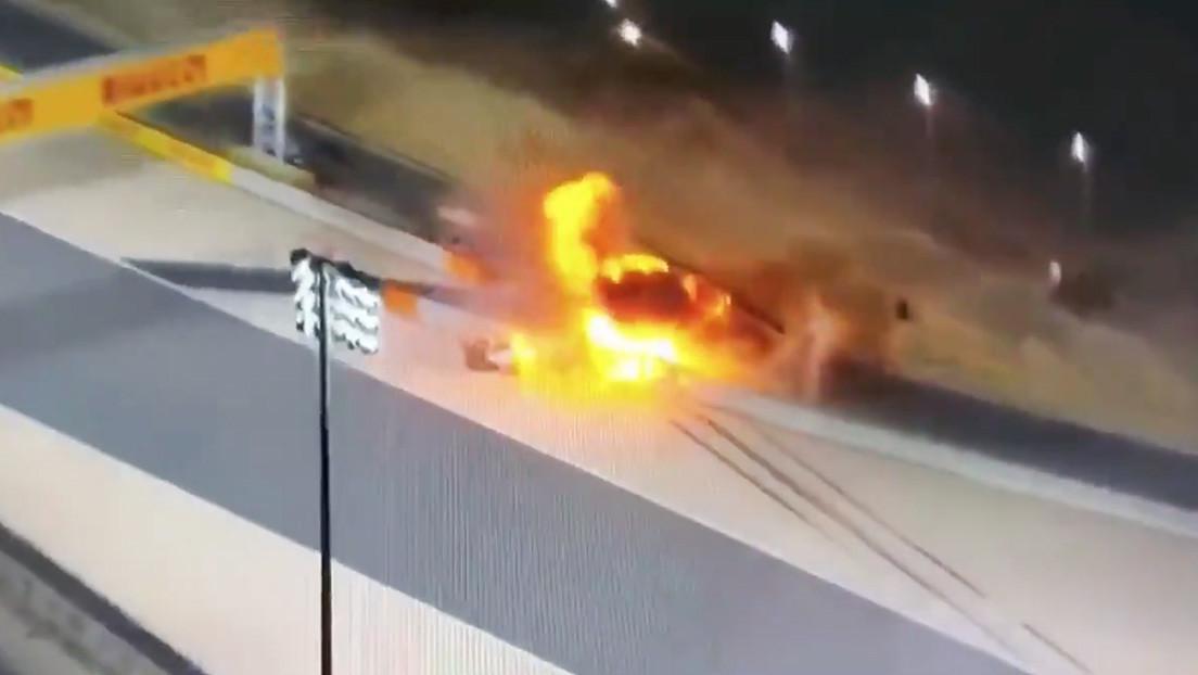 VIDEOS: Piloto de Fórmula 1 estrella su auto contra una barrera y estalla en llamas