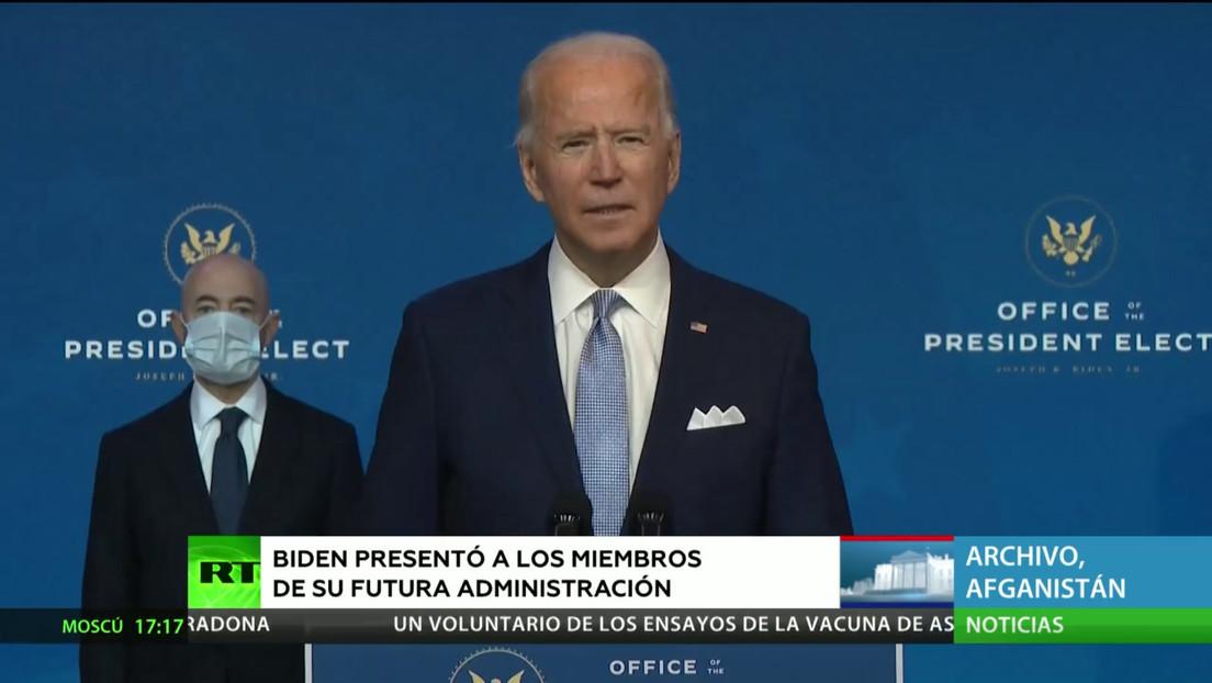 Biden presentó a los miembros de su futura Administración