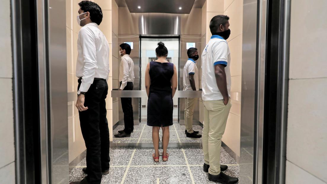 Desarrollan ascensores sin contacto en Japón para disminuir el riesgo de contagio de covid-19