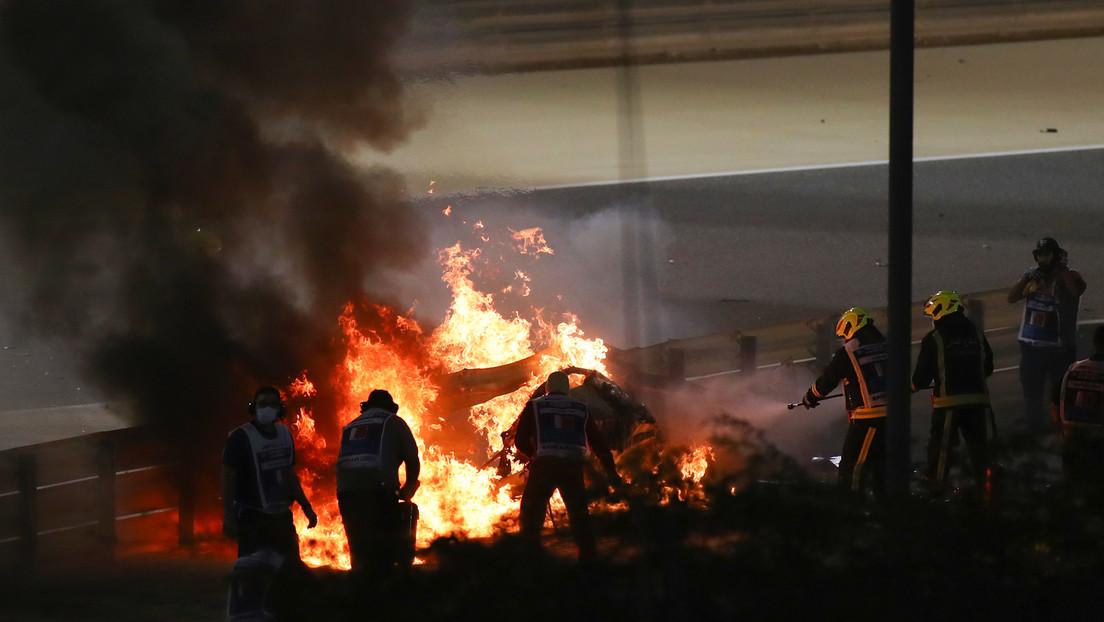 Romain Grosjean se pronuncia tras escapar con vida cuando su coche estalló en llamas al impactar contra una barrera