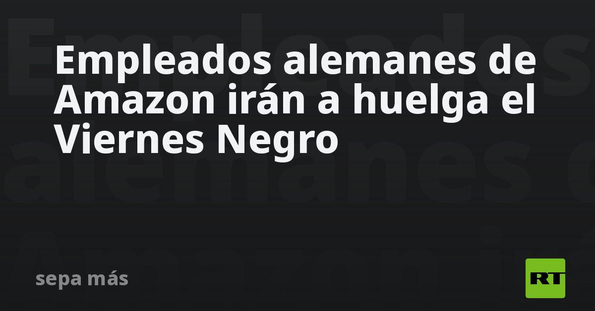 Empleados alemanes de Amazon irán a huelga el Viernes Negro