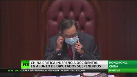 China denuncia una injerencia occidental en el asunto de los diputados suspendidos en Hong Kong