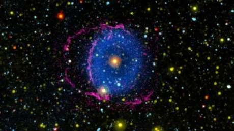 Resuelven el enigma de la nebulosa del Anillo Azul, que brilla con luz ultravioleta