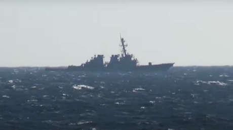 VIDEO: El destructor de EE.UU. John S. McCain se adentra en aguas territoriales de Rusia y es expulsado por un destructor