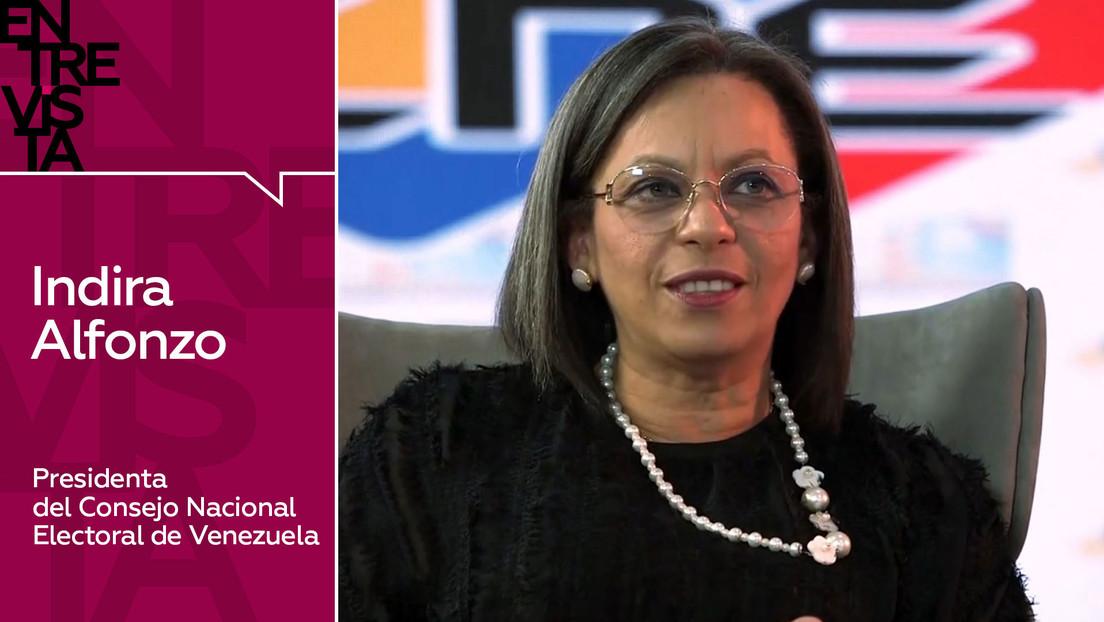 """Presidenta del CNE de Venezuela: """"No aceptaremos que se deslegitime el proceso electoral porque ciertos partidos políticos no quieran participar"""""""