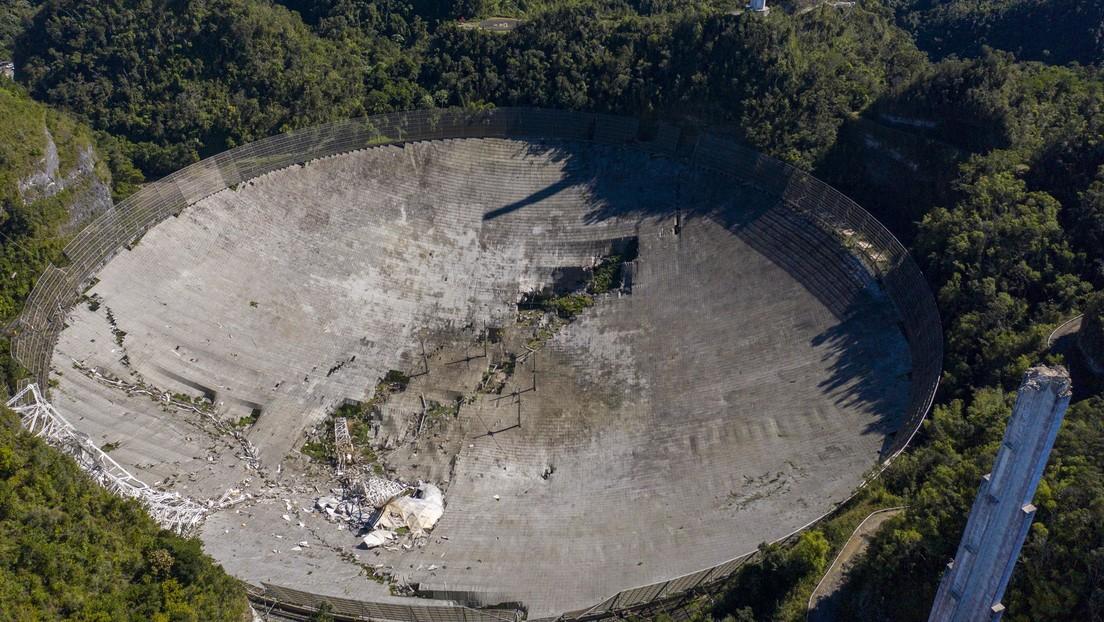 """""""Se pudo haber evitado"""": Colapsa el histórico radiotelescopio de Arecibo en Puerto Rico por el deterioro de su estructura"""