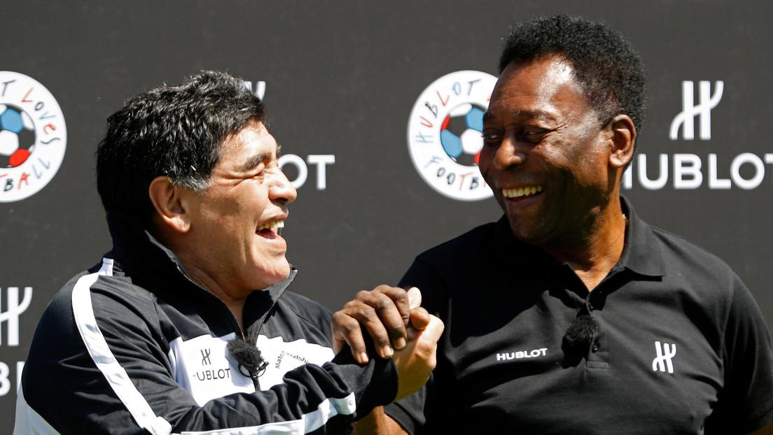 """""""Eres incomparable"""": La emotiva carta de Pelé a Maradona a siete días del fallecimiento del astro argentino"""