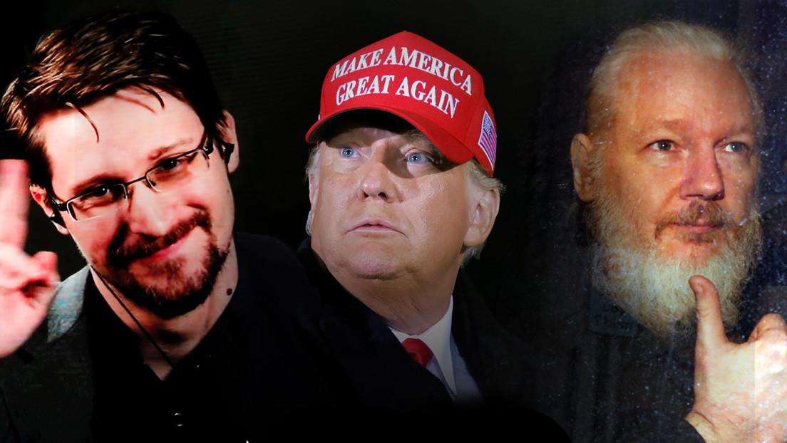 """""""Solo usted puede salvarle la vida"""": Snowden se dirige a Trump para pedirle que indulte a Assange"""