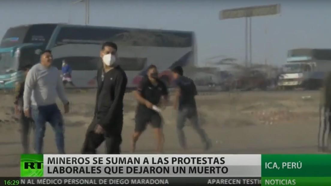 Mineros se suman a las protestas contra la Ley de Promoción Agrícola, que dejan un muerto en Perú