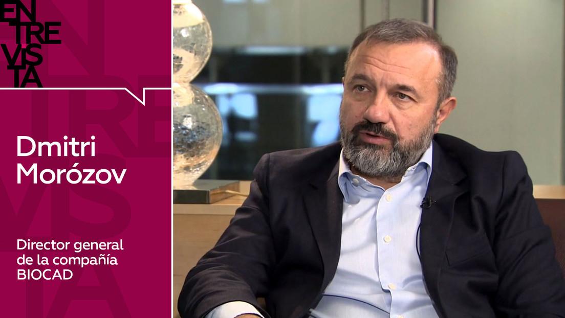 """Dmitri Morózov, director general de BIOCAD: """"La vida nos mostrará qué vacuna es efectiva a largo plazo y cuál de ellas desarrolla la inmunidad"""""""
