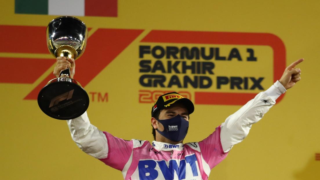 El piloto mexicano de F1 Checo Pérez consigue un histórico triunfo en el Gran Premio de Sakhir