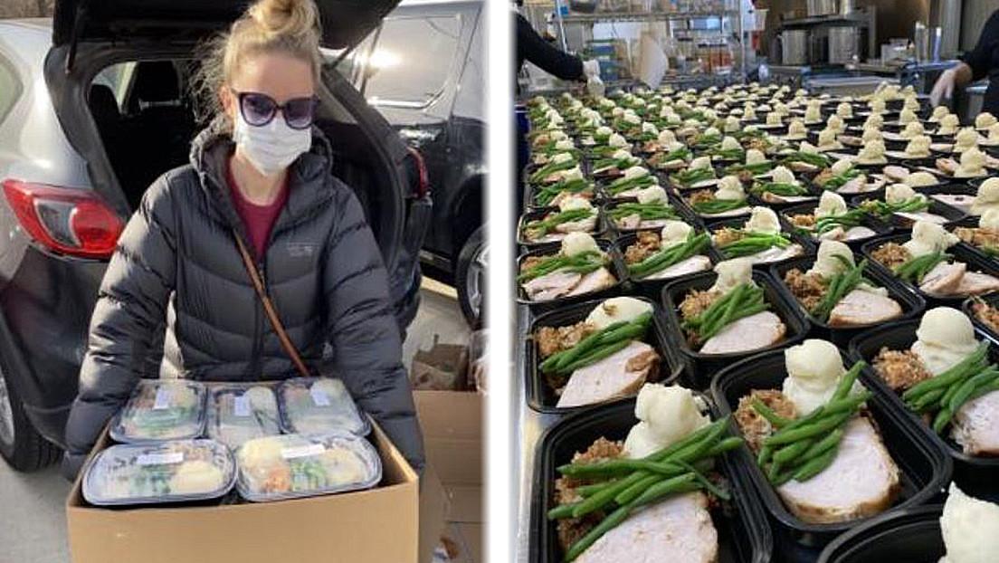Una pareja cancela su boda a causa del covid-19 y usa el catering para alimentar a los más necesitados
