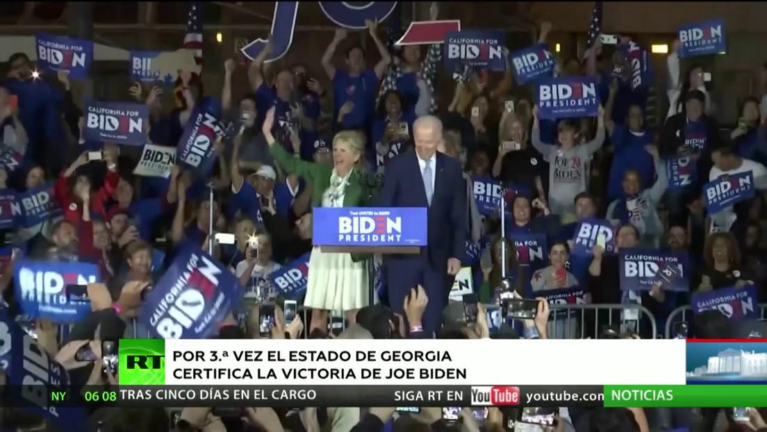 EE.UU.: El estado de Georgia certifica por tercera vez la victoria electoral de Biden