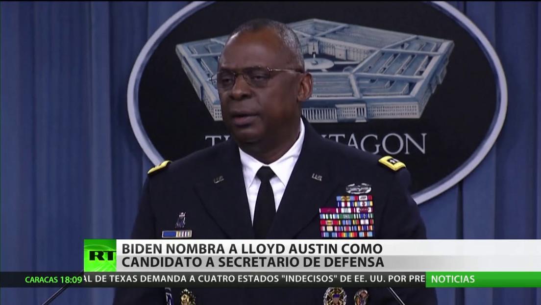 Biden nombra al general retirado Lloyd Austin como candidato a secretario de Defensa