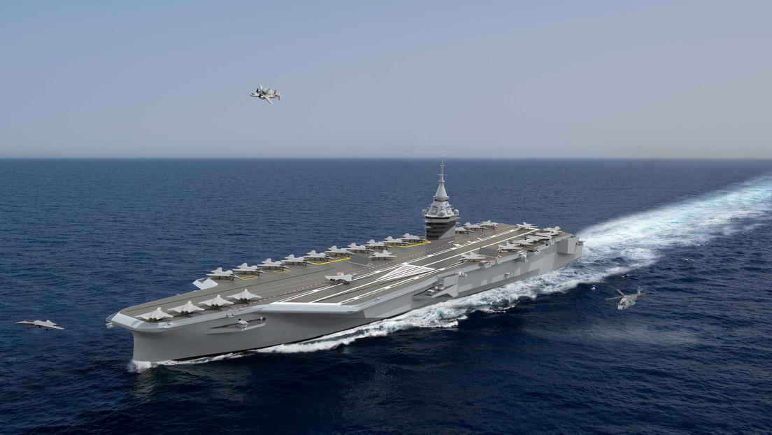 Francia construirá un portaviones de propulsión nuclear para reemplazar su buque insignia Charles de Gaulle