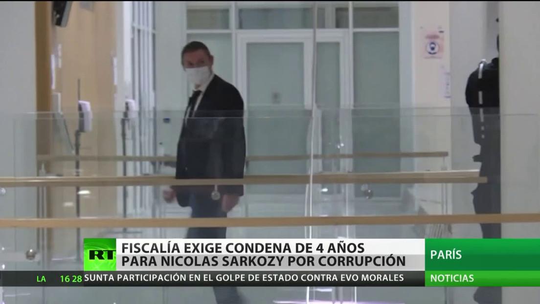 Fiscalía francesa exige una condena de 4 años para el expresidente Nicolas Sarkozy por corrupción