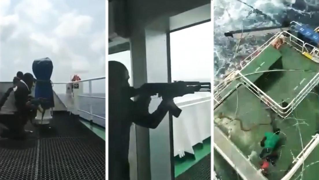 VIDEO: Tripulantes filman cómo su barco es atacado por piratas en el golfo de Guinea