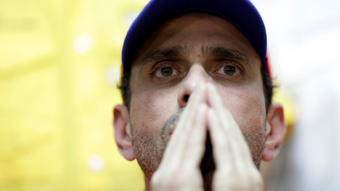 """Capriles asegura que la oposición venezolana está acéfala y """"botó a la basura"""" su capital político"""
