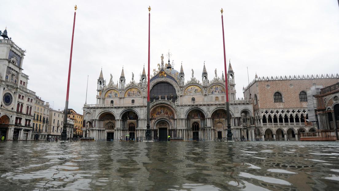 Venecia se inunda otra vez porque no se activó el nuevo sistema de barreras inflables (VIDEOS, FOTOS)