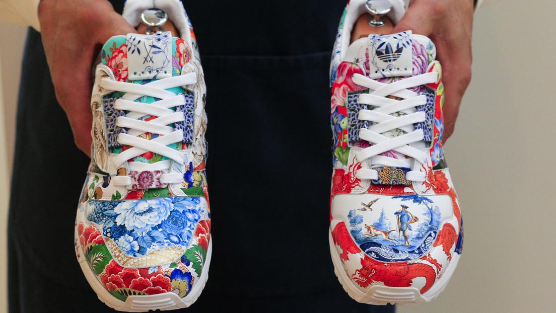 Adidas diseña zapatillas de porcelana que podrían ser vendidas por 1 millón de dólares en una subasta
