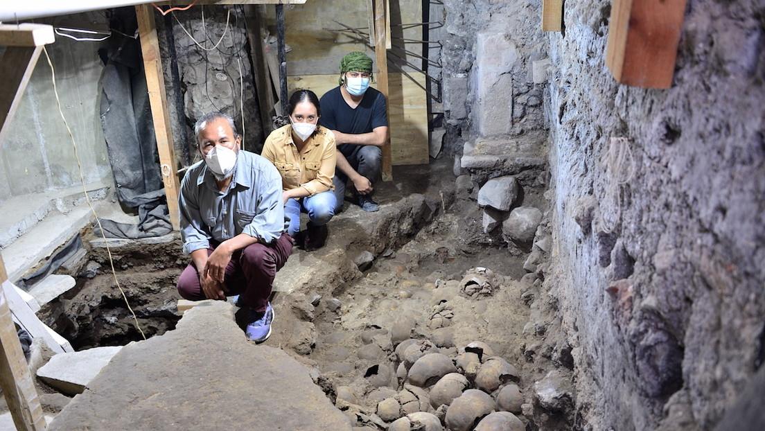 Arqueólogos hallan 119 cráneos de la época de Tenochtitlan en el Centro Histórico de la Ciudad de México