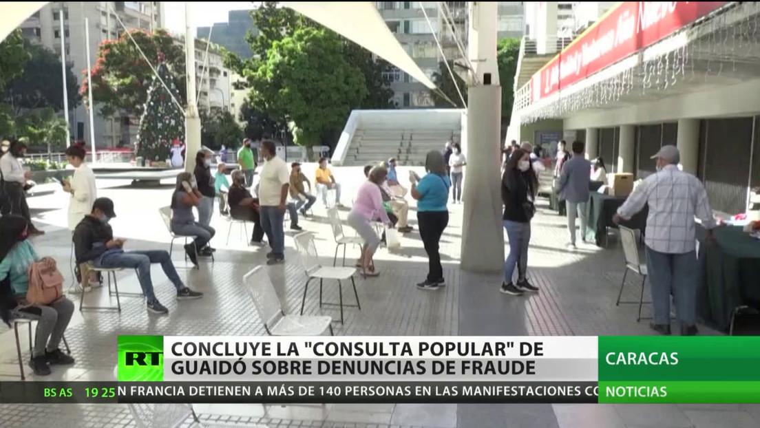 """Concluye la """"consulta popular"""" de Guaidó sobre denuncias de fraude"""