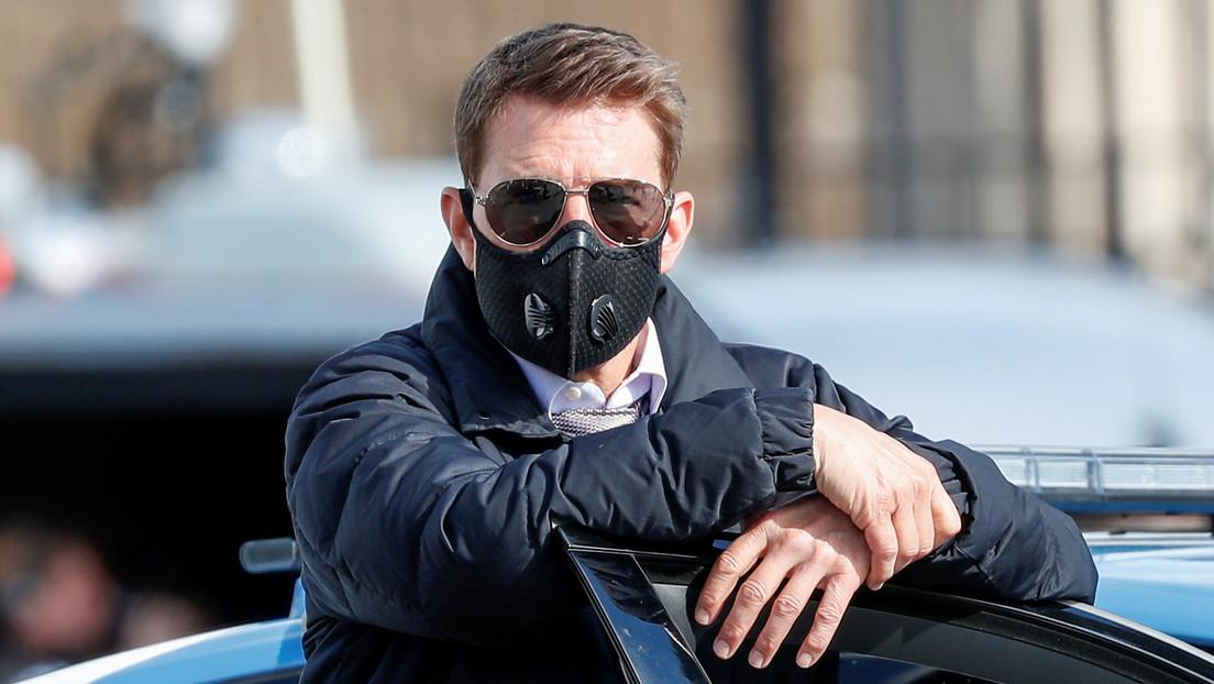 Graban a Tom Cruise amonestando al equipo de 'Misión Imposible 7' por romper los protocolos de seguridad sobre el covid-19
