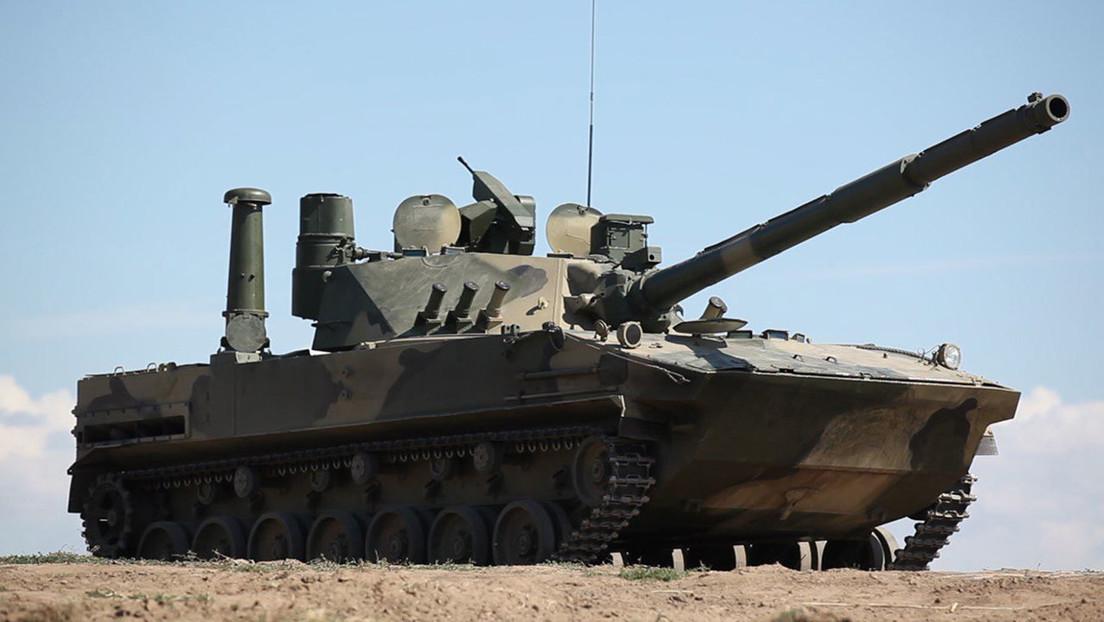 Pruebas del avanzado tanque anfibio ruso que puede ser lanzado desde un avión y está tan armado como un carro de combate principal (VIDEO)