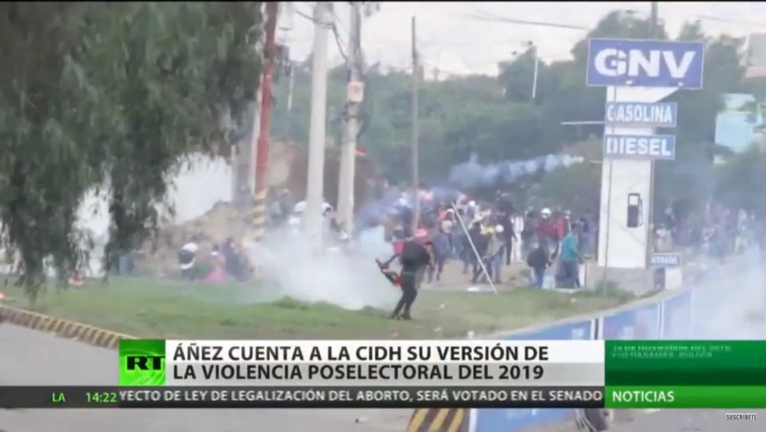 Áñez cuenta a la CIDH su versión de la violencia poselectoral de 2019