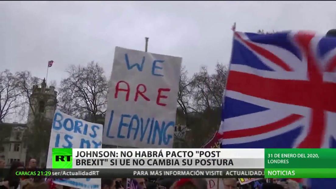 Johnson advierte que podría no haber acuerdo post-Brexit con la UE si el bloque no cambie su postura