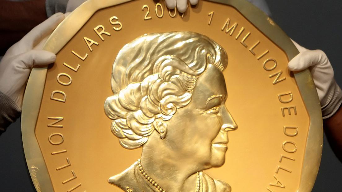 Una moneda robada de oro de 100 kilogramos pudo ser fundida y trasformada en adornos, vendidos a raperos