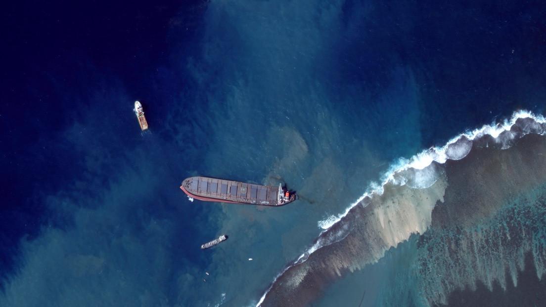 El masivo derrame de petróleo del barco japonés en Mauricio se debió a que la tripulación buscaba una mejor señal telefónica, según los propietarios