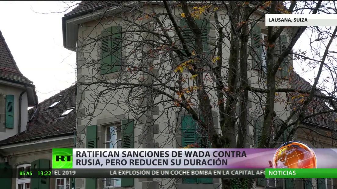 Ratifican las sanciones de la AMA contra Rusia, pero reducen a la mitad su duración