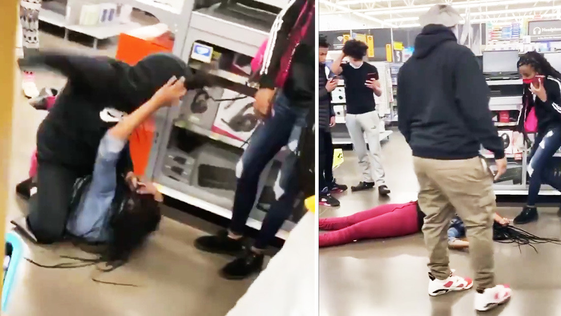 VIDEO: Dos mujeres se agarran a golpes en un Walmart por una PlayStation 5 y una termina inconsciente tras recibir varios pisotones en la cara