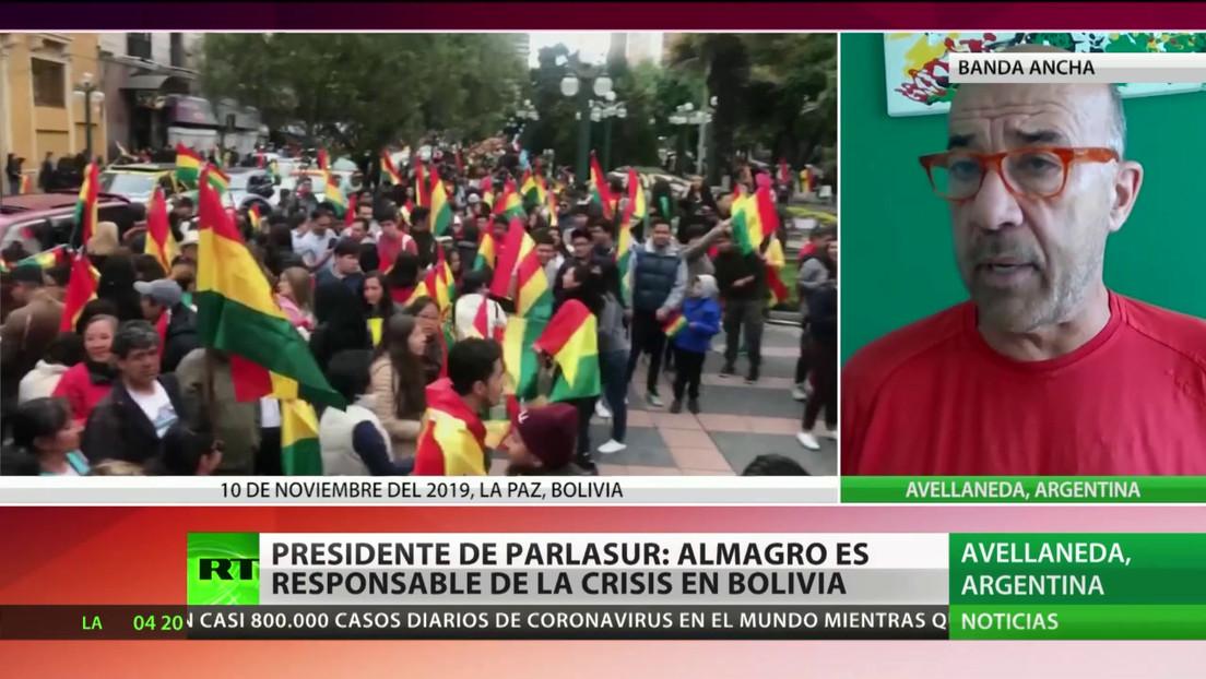 Presidente de Parlasur: Almagro es responsable de la crisis en Bolivia