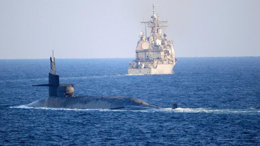 Submarino nuclear de la Marina de EE.UU. atraviesa el estrecho de Ormuz en un aparente gesto de desafío a Irán