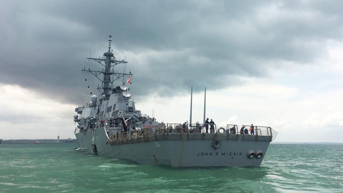 """Un destructor de EE.UU. se acerca a las islas Spratly en el mar de la China Meridional para reafirmar la """"libre navegación"""""""