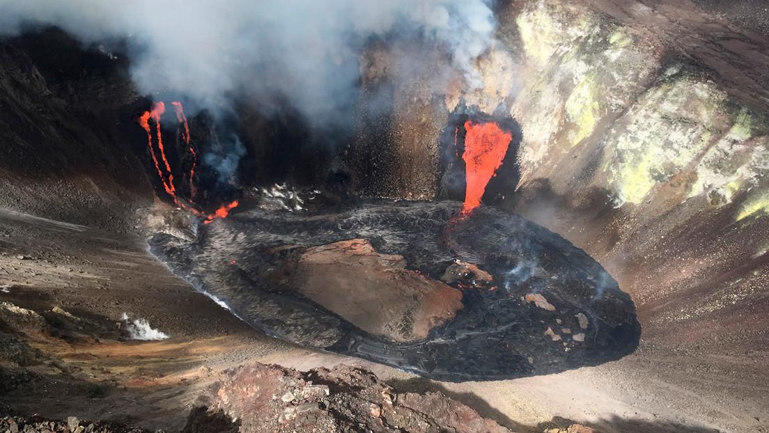 La erupción volcánica en Hawái deja un lago de lava visible desde el espacio